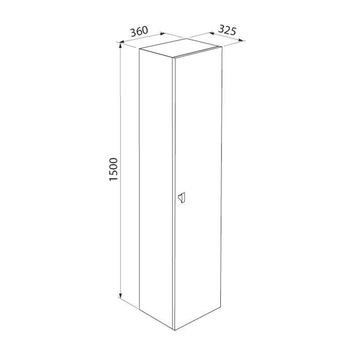Фото Пенал для ванной комнаты, подвесной, 36 см, IDDIS Rise RIS36W0i97, белый 6