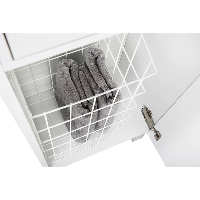 Фото Пенал для ванной комнаты, напольный, 40 см, IDDIS Harizma HAR4000i97, белый 4