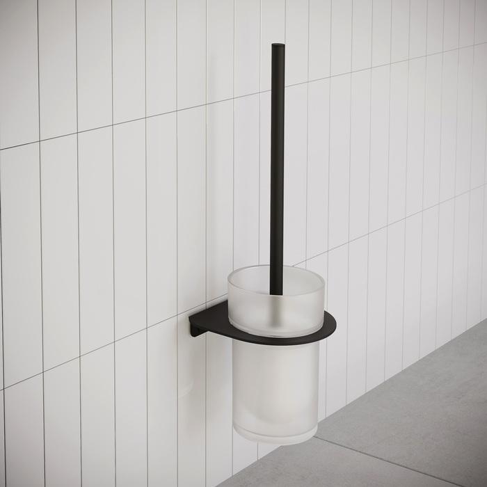 Фото Ерш, матовое стекло, нержавеющая сталь, NOА, черный матовый, IDDIS, NOABLG0i47 1