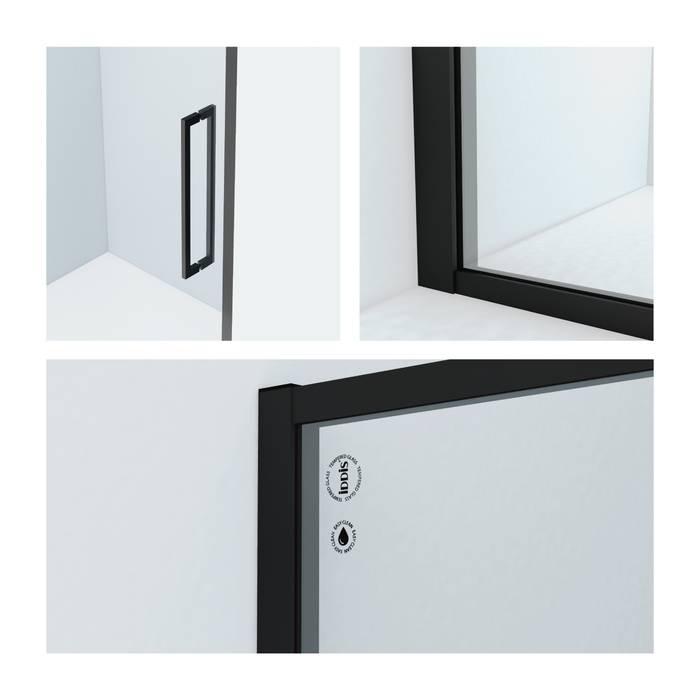 Фото Душевая дверь алюминиевый профиль 110х195 IDDIS Slide SLI6BS1i69, черный 1