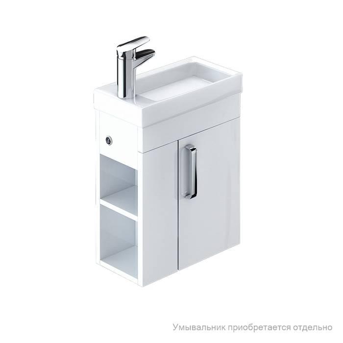 Фото Тумба для ванной комнаты, подвесная, 40 см, подходит умывальник 0014000U28 IDDIS Torr TOR40W1i95, белая 0