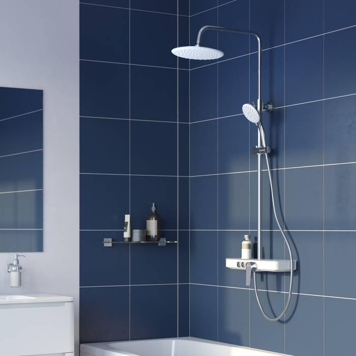 Фото Смеситель для ванны с верхним душем, IDDIS Shelfy SHESB3Fi06 0