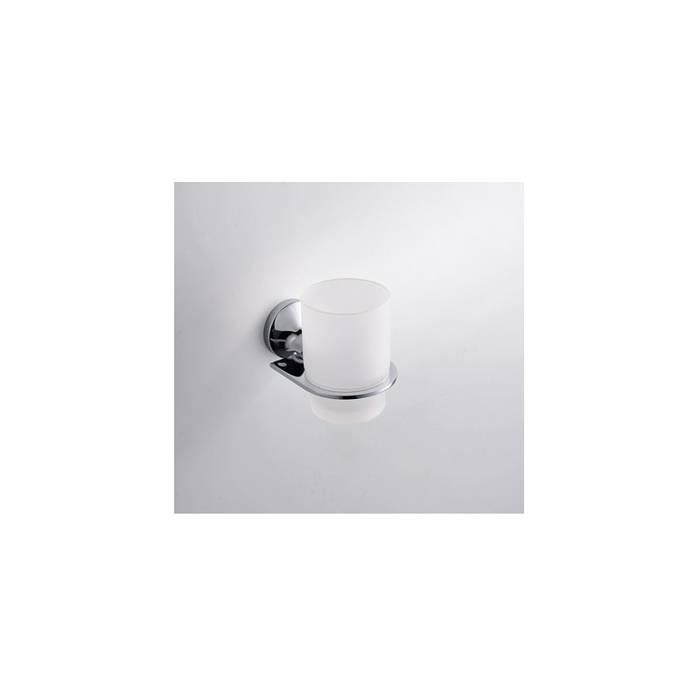 Фото Подстаканник одинарный матовое стекло, латунь, IDDIS Mirro MIRMBG1i45 1