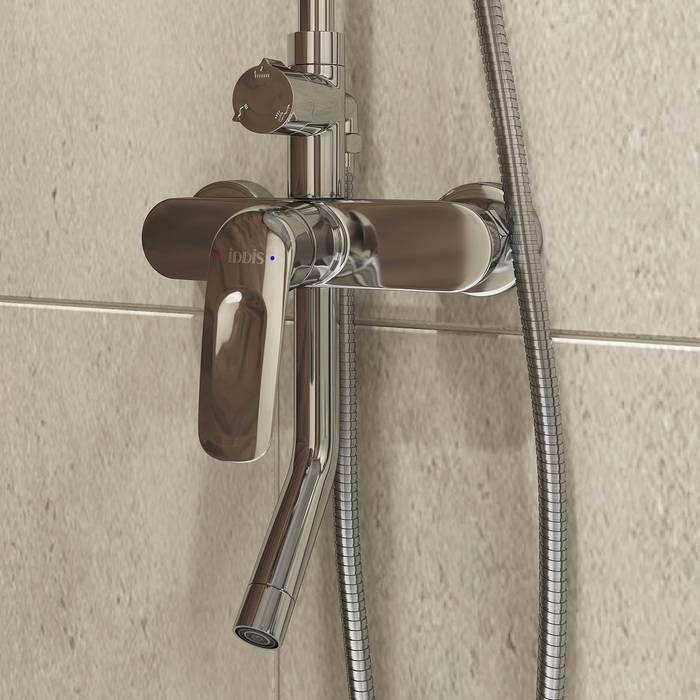 Фото Смеситель для ванны с верхним душем, IDDIS Male MALSB3Fi06 2
