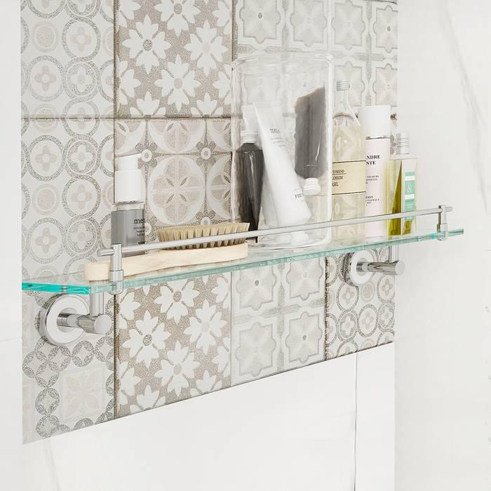 Фото Полка прозрачное стекло латунь, IDDIS Calipso CALMBG0i44 1