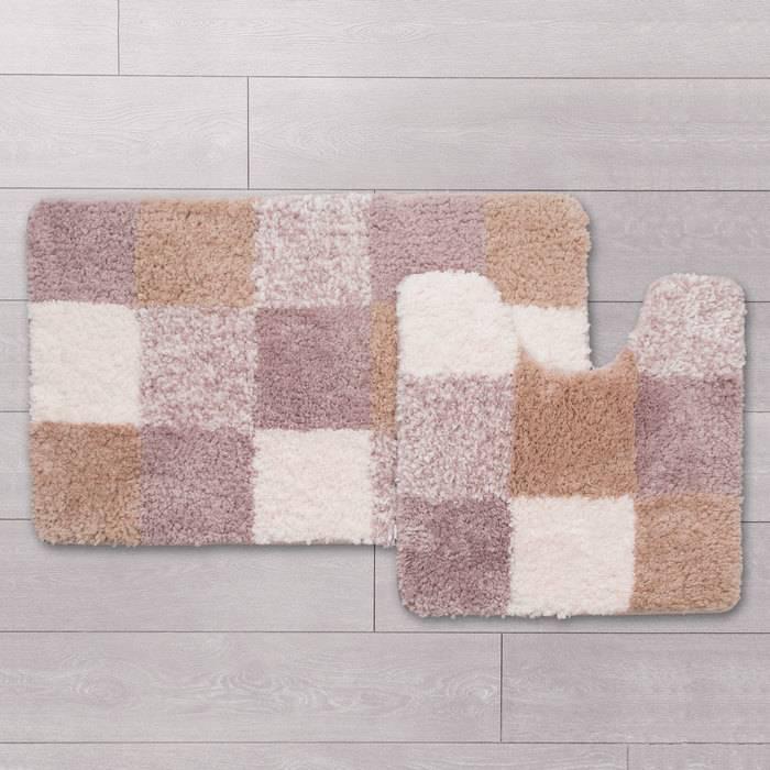 Фото Набор ковриков для ванной комнаты, 50x80+50x50 см, полиэстер, IDDIS Basic 460M580i13 1