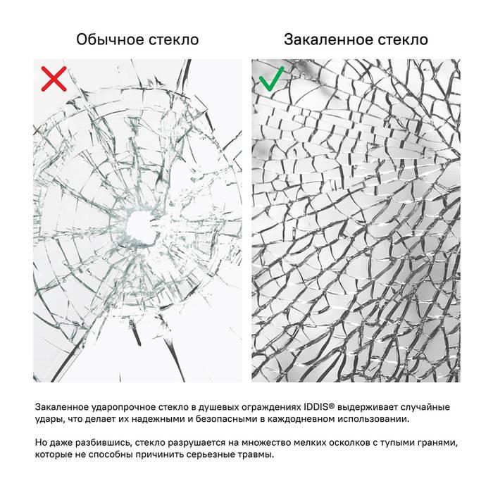 Фото Дверки душевые полукруглые под высокий поддон 1,5 IDDIS Glass TF90MH, матовый хром 2