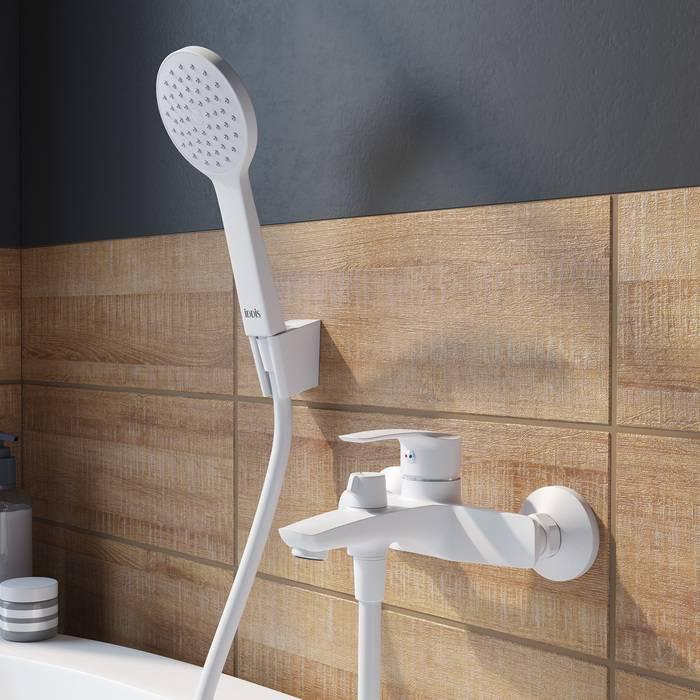Фото Смеситель для ванны матовый, IDDIS Ray RAYWT02i02, белый 3