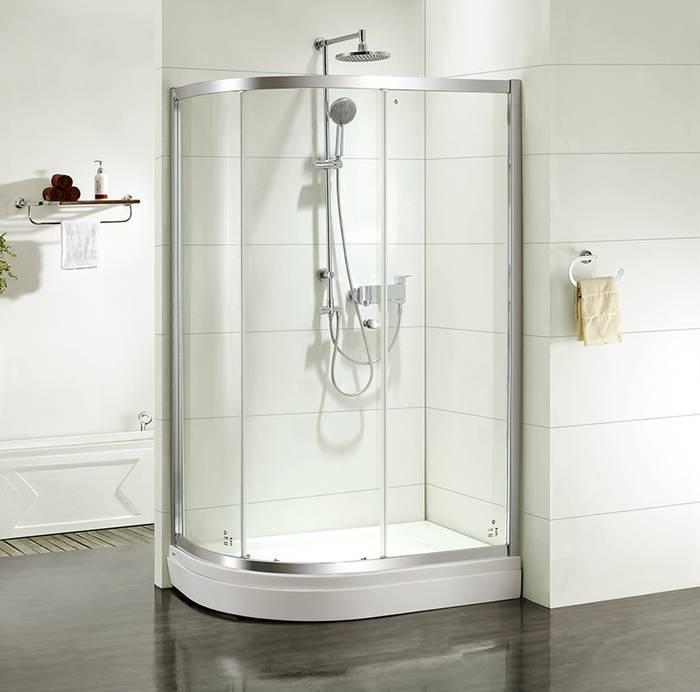 Фото Дверки душевые полукруглые, глянцевый стекло прозрачное, поддон низкий, 120x80x185 см, IDDIS Mirro M70R128i23, хром 0