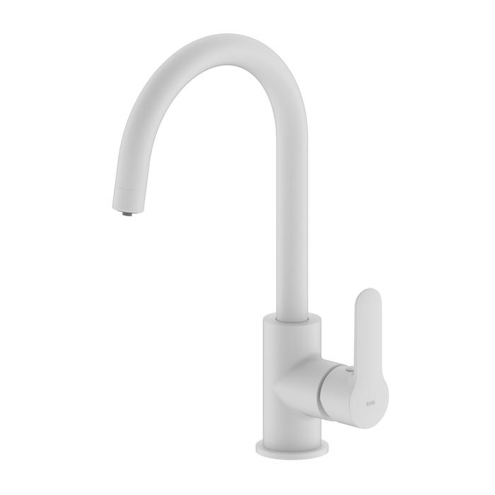 Фото Смеситель для кухни с каналом для фильтрованной воды, белый матовый, Cuba, IDDIS, CUBWTFJi05 0