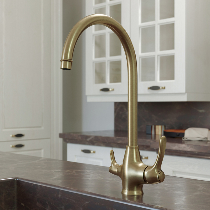 Фото Смеситель для кухни с каналом для фильтрованной воды, Oldie, IDDIS, OLDBRF0i05 1