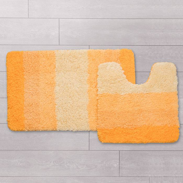 Фото Набор ковриков для ванной комнаты, 50x80 см, 50x50 см, полиэстер, IDDIS 551M580i13 1