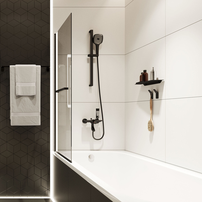 Фото Смеситель для ванны с управлением IDDIS Shelfy SHEBLBTi02WA, черный матовый 10