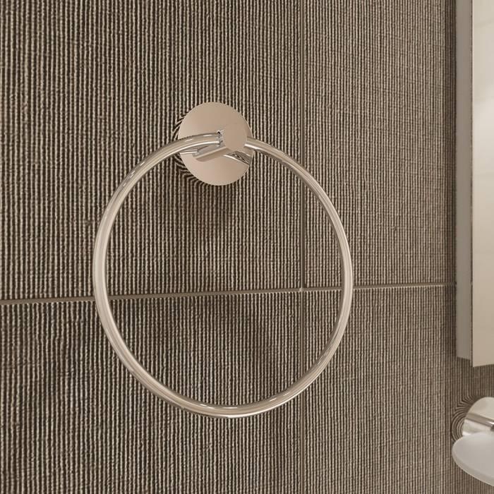 Фото Полотенцедержатель кольцо, сплав металлов, IDDIS Sena SENSSO0i51, глянцевый хром 1