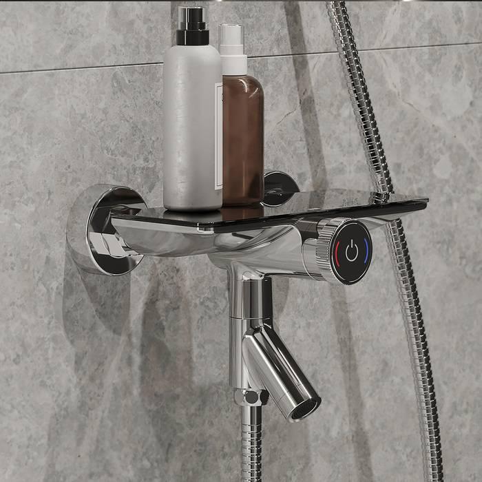 Фото Смеситель для ванны с управлением IDDIS Shelfy SHESBBTi02WA 0