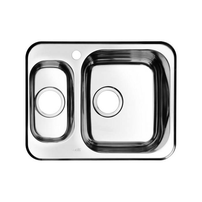 Фото Мойка нержавеющая сталь, шелк, 1 1/2, чаша справа, 605x480, IDDIS Strit STR60SZi77 0