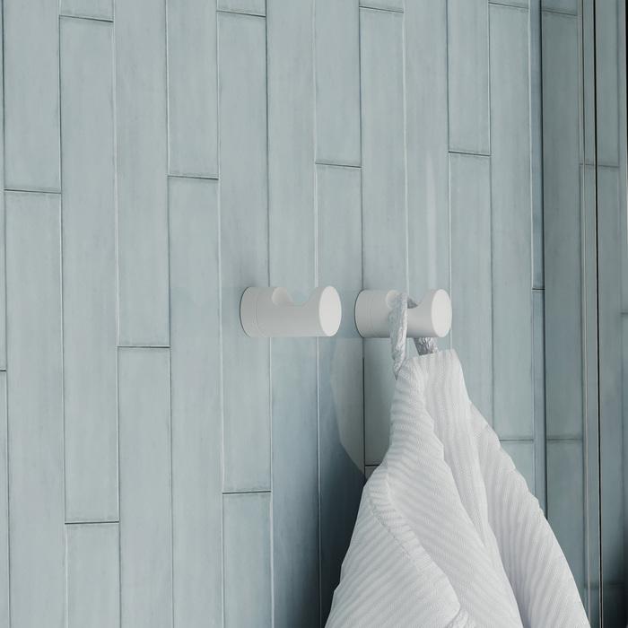 Фото Крючок одинарный, сплав металлов, NOA, белый матовый, IDDIS, NOAWT10i41 1
