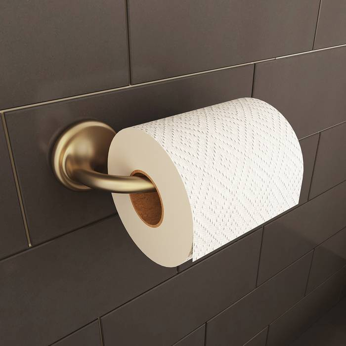 Фото Держатель для туалетной бумаги без крышки, сплав металлов, IDDIS Oldie OLDBR00i43, бронза 1