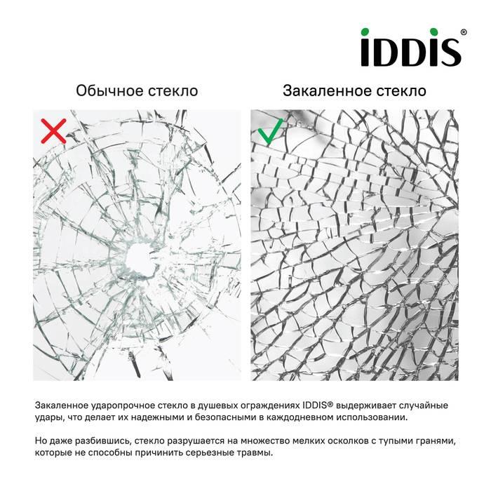 Фото Душевая дверь алюминиевый профиль 110х195 IDDIS Slide SLI6BS1i69, черный 3