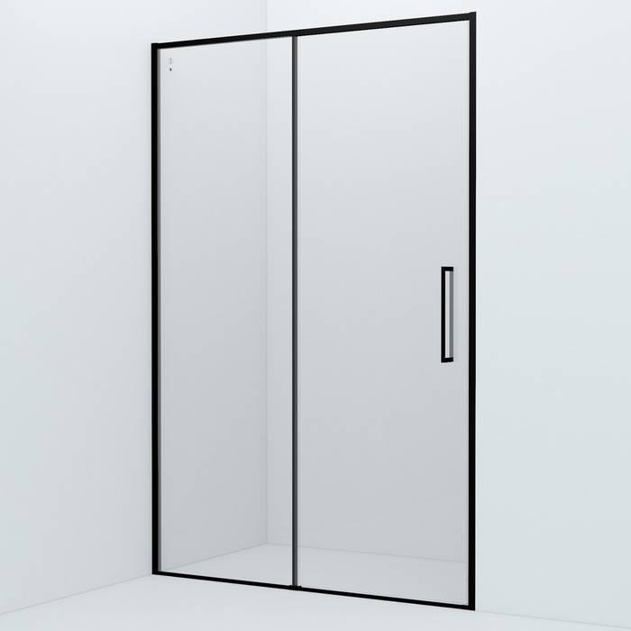 Фото Душевая дверь алюминиевый профиль 130х195 IDDIS Slide SLI6BS3i69, черный 0
