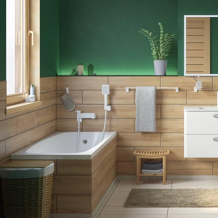 Фото Смеситель для ванны матовый, IDDIS Slide SLIWT00i02, белый 4