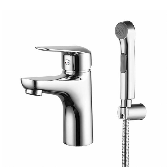 Фото Смеситель для умывальника с гигиеническим душем, IDDIS Torr TORSB00i08 0