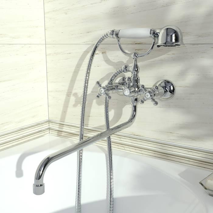 Фото Смеситель для ванны с длинным изливом с керамическим дивертором, IDDIS Sam SAMSBL2i10 3