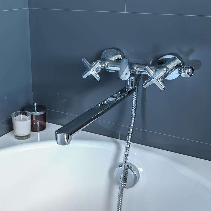 Фото Смеситель для ванны с длинным изливом, Acros, IDDIS, ACRSBL2i10WA 1