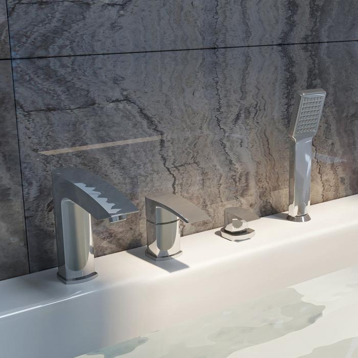 Фото Смеситель для ванны на 4 отверстия, Vane, IDDIS, VANSB40I07 2