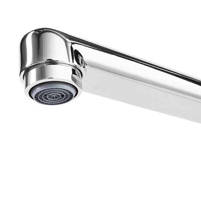 Фото Смеситель для ванны с длинным изливом с керамическим дивертором IDDIS Zodiac ZODSBL2i10WA 2