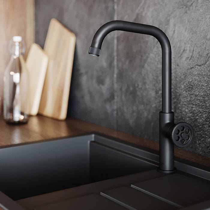 Фото Смеситель для кухни IDDIS Grange GRABL00i05, черный 1