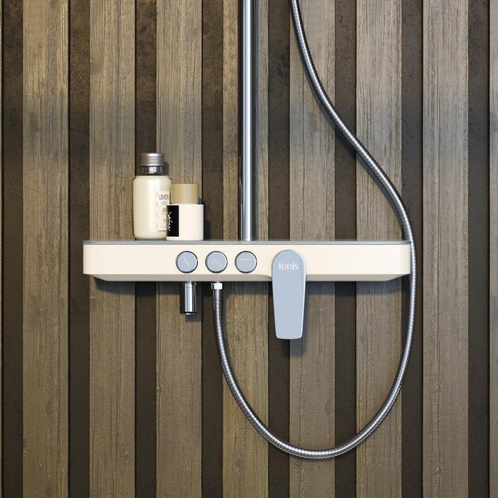 Фото Смеситель для ванны с верхним душем, IDDIS Shelfy SHESB3Fi06 8