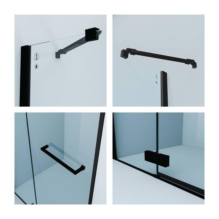 Фото Душевая дверь распашная, алюминиевый профиль 120х195, IDDIS Slide SLI6BH2i69, черный 1