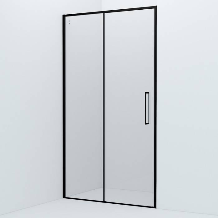 Фото Душевая дверь алюминиевый профиль 110х195 IDDIS Slide SLI6BS1i69, черный 0