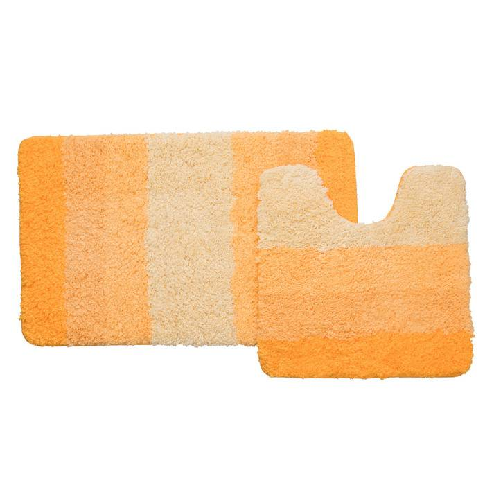 Фото Набор ковриков для ванной комнаты, 50x80 см, 50x50 см, полиэстер, IDDIS 551M580i13 0