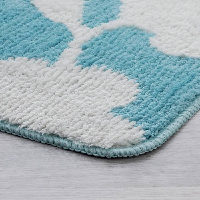 Фото Набор ковриков для ванной комнаты, 45x65 + 45x50 см, микрофибра, IDDIS Promo P37M465i12 2