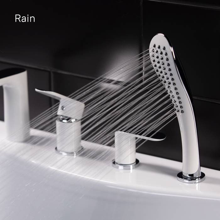 Фото Смеситель для ванны на 4 отверстия, IDDIS Calipso CALSB42i07, белый/хром 7