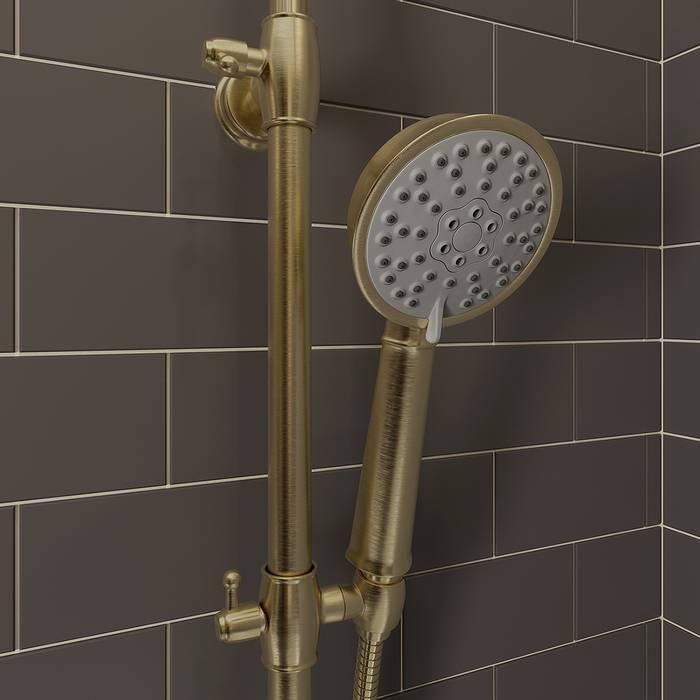 Фото Смеситель для ванны с верхним душем, IDDIS Oldie OLDBR3Fi06 4