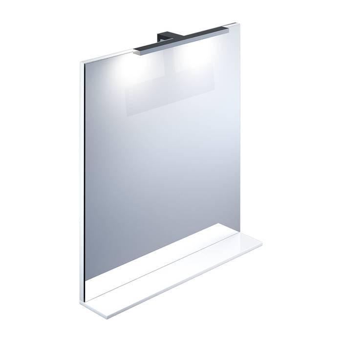 Фото Зеркало 70 см, IDDIS Custo CUS70W0i98, белое 0
