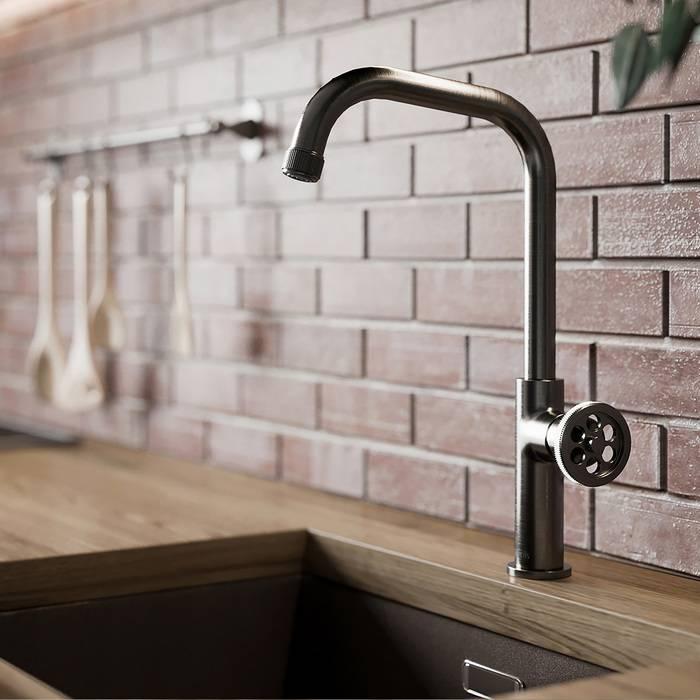 Фото Смеситель для кухни IDDIS Grange GRAGM00i05, графит 1
