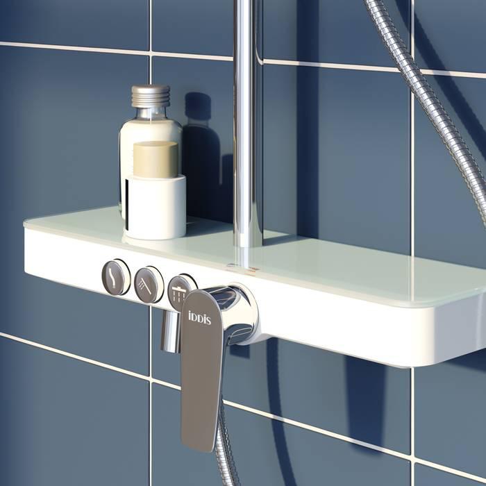Фото Смеситель для ванны с верхним душем, IDDIS Shelfy SHESB3Fi06 2