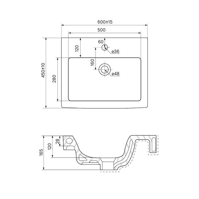 Фото Тумба с умывальником для ванной комнаты, подвесная, 60 см, IDDIS Mirro MIR60W0i95K, белая/под дерево 5
