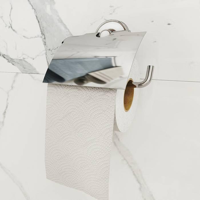 Фото Держатель для туалетной бумаги с крышкой, латунь, IDDIS Calipso CALSBC0i43 1