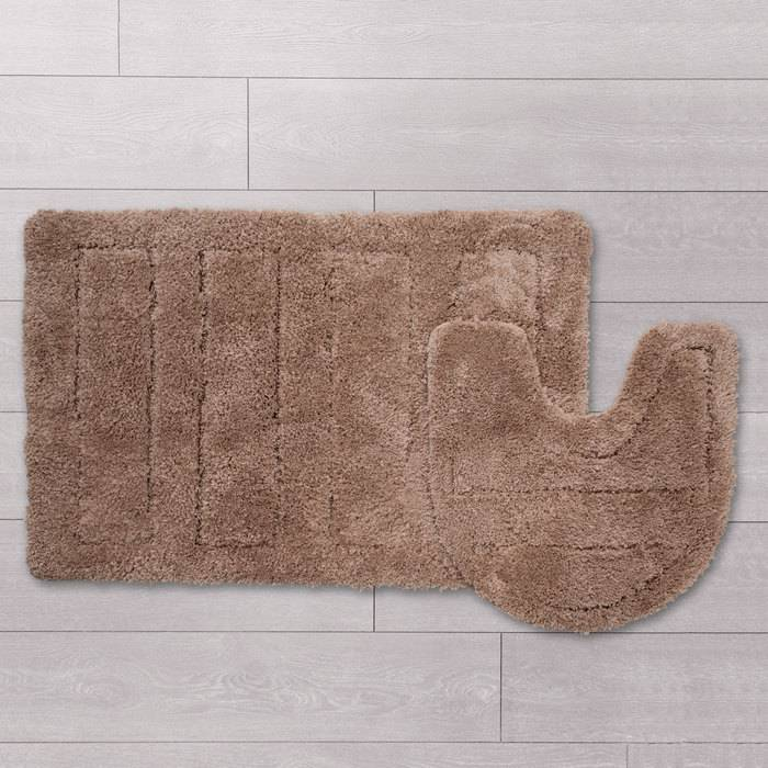 Фото Набор ковриков для ванной комнаты, 60х90 + 50х50 см, микрофибра, IDDIS Basic 242M590i13 1
