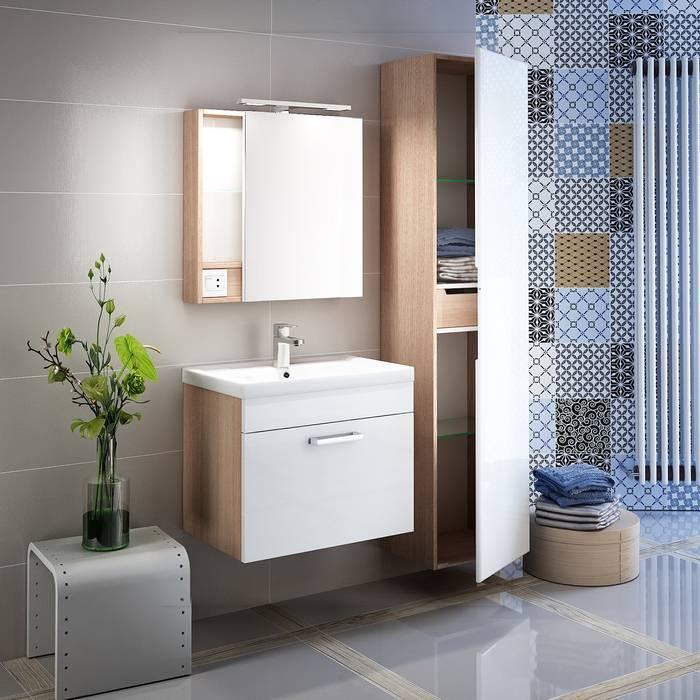 Фото Пенал для ванной комнаты, подвесной, 40 см, IDDIS Mirro MIR4000i97, белый 2