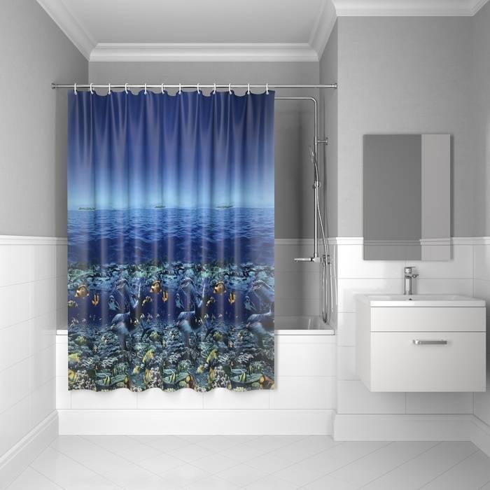Фото Штора для ванной комнаты, 180x180 см PEVA, IDDIS Promo P25PV11i11 0