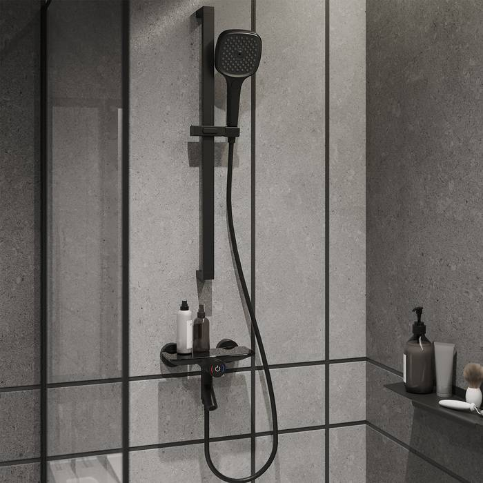 Фото Смеситель для ванны с управлением IDDIS Shelfy SHEBLBTi02WA, черный матовый 2