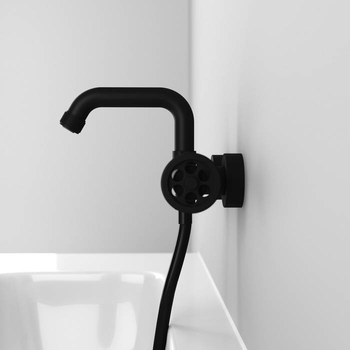 Фото Смеситель для ванны IDDIS Grange GRABLR2i02WA, черный 5