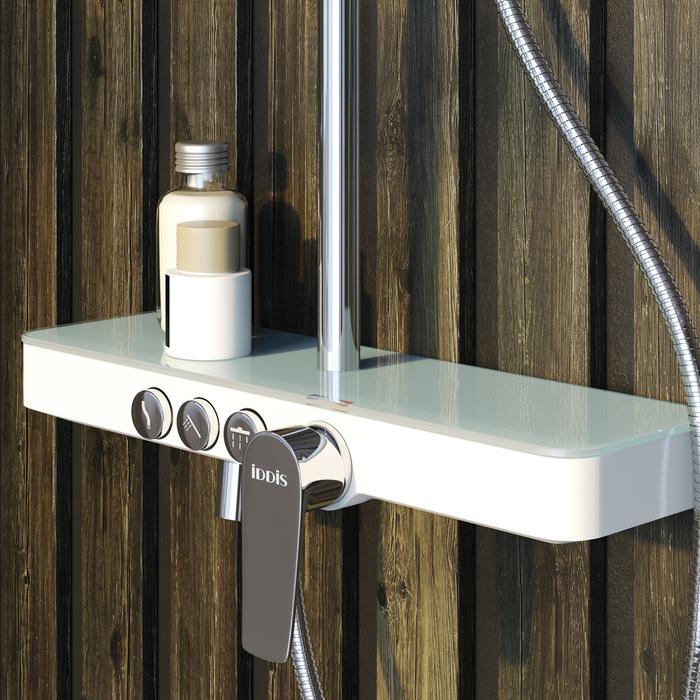 Фото Смеситель для ванны с верхним душем, IDDIS Shelfy SHESB3Fi06 9