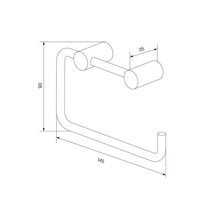 Фото Держатель для туалетной бумаги без крышки, сплав металлов, IDDIS Petite PETGM00i43, графит 2